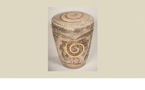 Keramik-Urne Lebensspirale