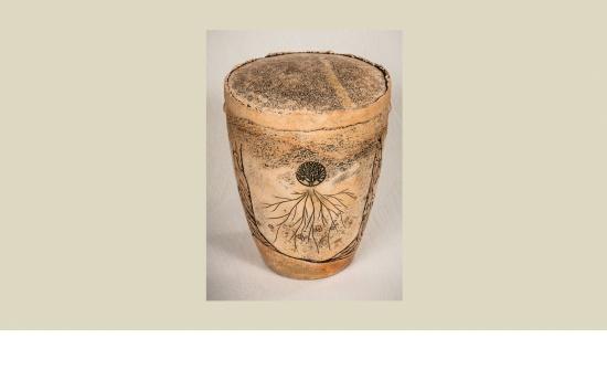 Keramik-Urne Lebensbaum