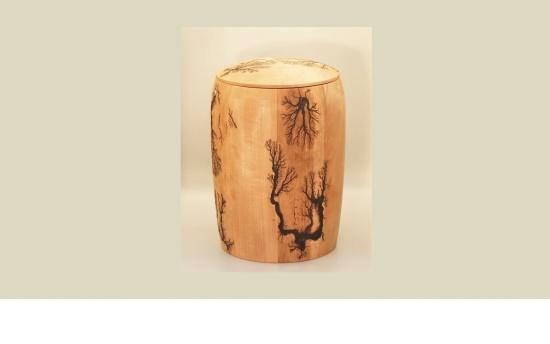 Holz-Urne Burned Pear